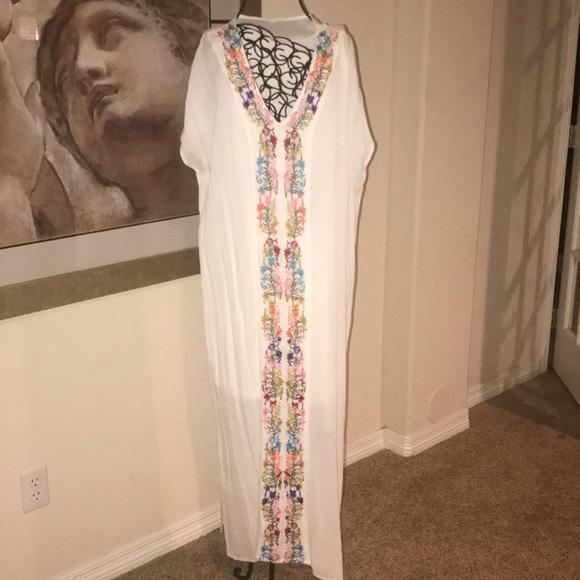 bc9b4c20d9 ASOS Dresses | Floral Embroidered Maxi Dresscover Up Nwot | Poshmark